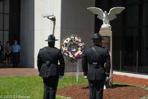 Honor Guard in front of memorial 2