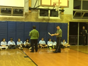 Officer Dave and Officer Terry teach the young recruits about drug awareness